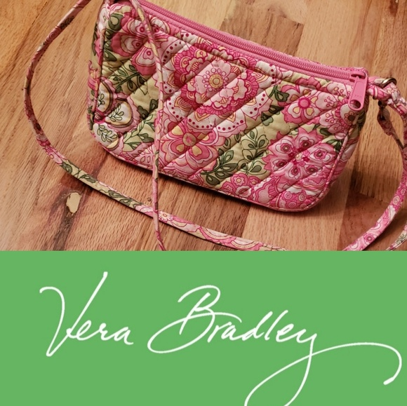 "Vera Bradley Handbags - Vera Bradley Petal Pink ""Amy"" Mini Purse Retired"